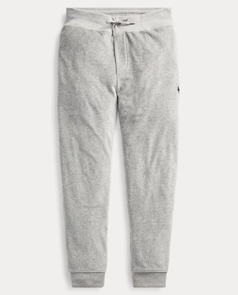 Cotton-Blend-Velour Jogger
