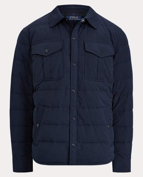Quilted Down Twill Jacket