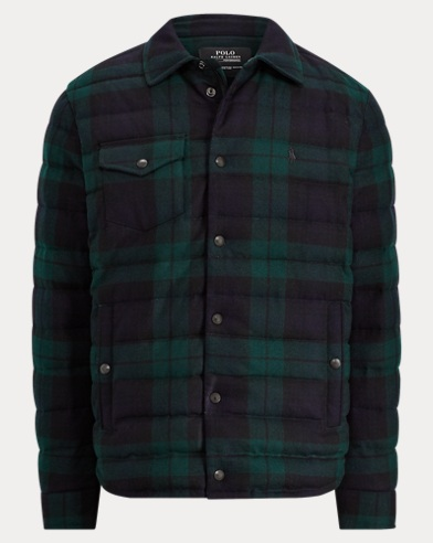 Tartan Flannel Down Jacket