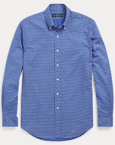 Slim Fit Geometric-Print Shirt