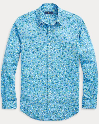 Slim Fit Floral Poplin Shirt