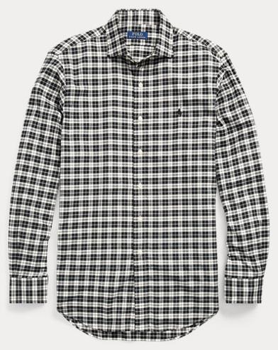 Slim Fit Plaid Cotton Shirt