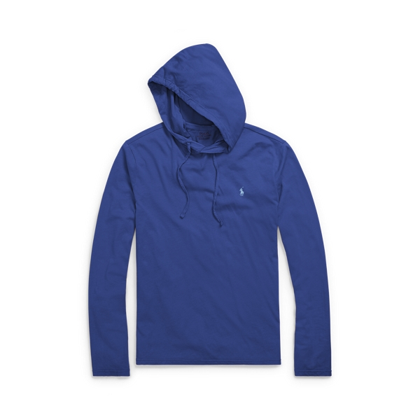 Ralph Lauren Weathered Cotton Hoodie Fall Royal M