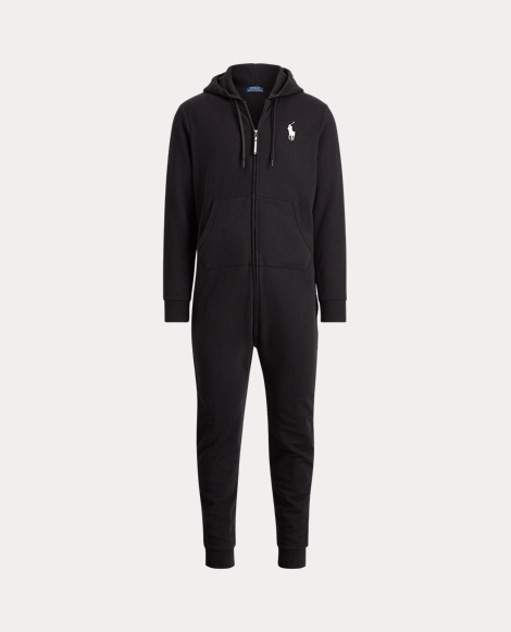 Cotton-Blend-Fleece Jumpsuit