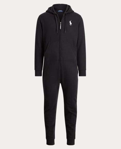 Cotton-Blend-Fleece Jumpsuit