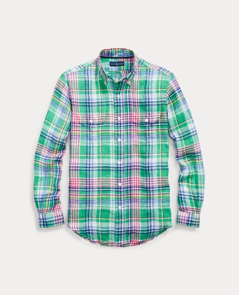 Classic Fit Linen Workshirt