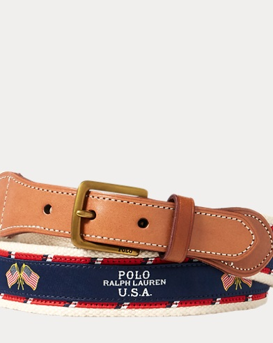 Flag-Overlay Webbed Belt