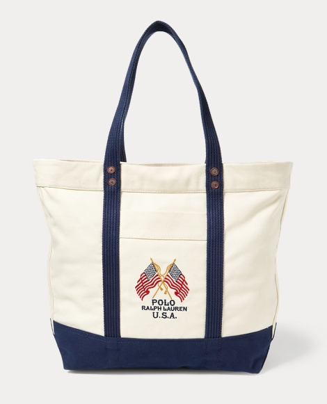 Flag Canvas Tote