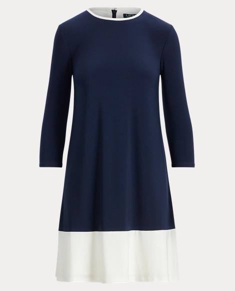 Two-Tone Jersey Dress