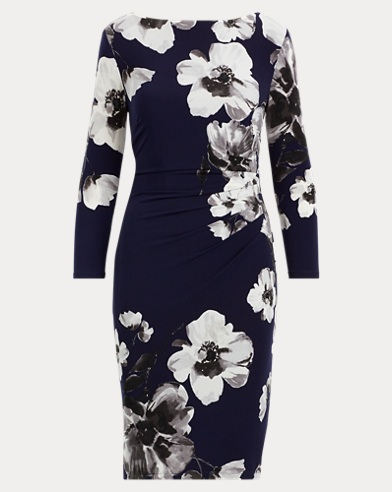 Floral Stretch Jersey Dress