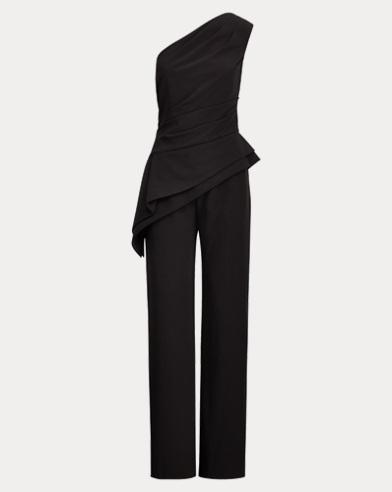 Crepe One-Shoulder Jumpsuit