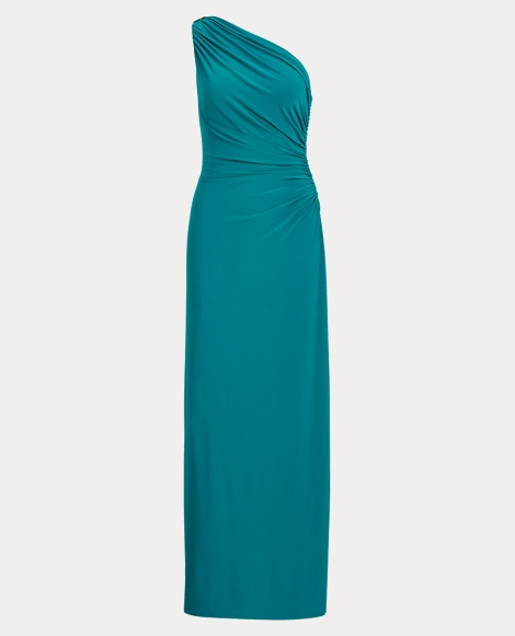 Jersey One-Shoulder Gown