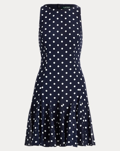 Polka Dot Georgette Dress