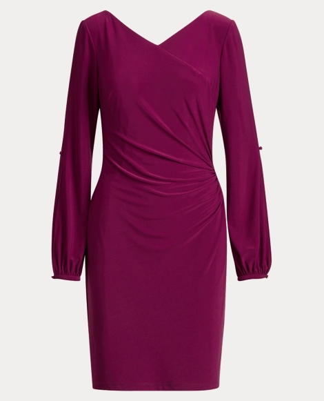 Surplice Jersey Dress