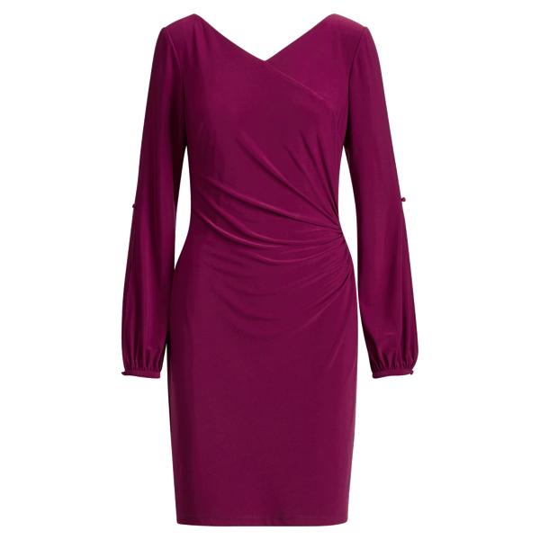 Ralph Lauren Surplice Jersey Dress Chateau Rouge 2