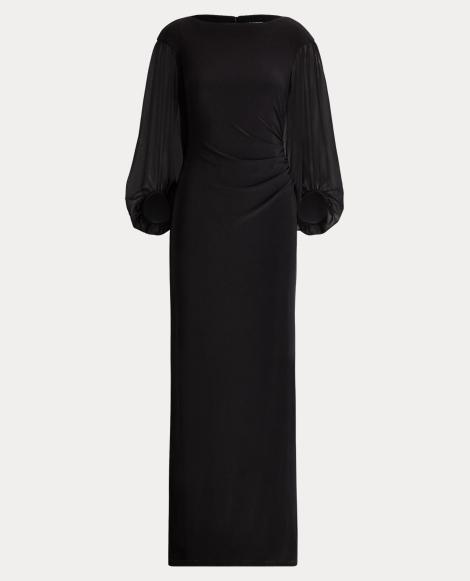 Jersey-Georgette Gown
