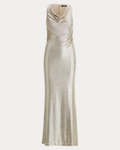 Metallic Sleeveless Gown