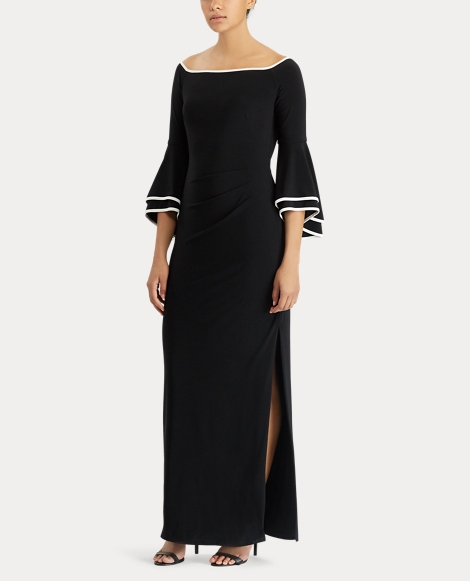 Two-Tone Off-the-Shoulder Gown