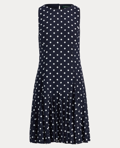 Polka-Dot Georgette Dress
