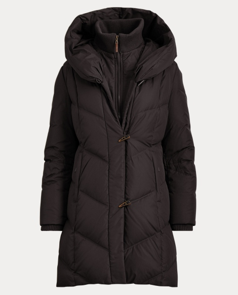 Hooded Down Toggle Coat