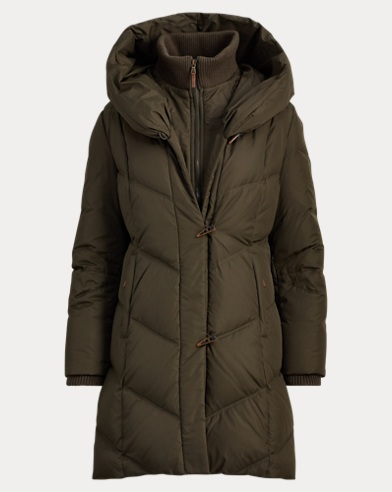 Hooded Down Toggle Coat