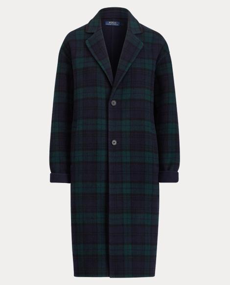 Tartan Merino Wool-Blend Coat