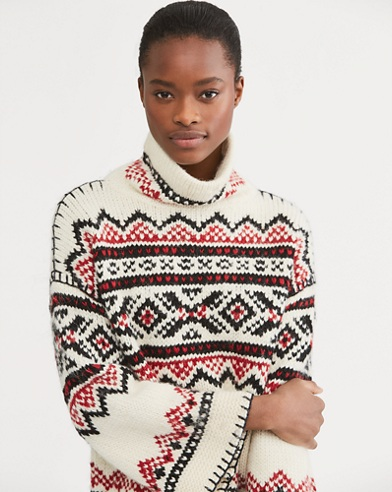 Fair Isle Funnelneck Sweater
