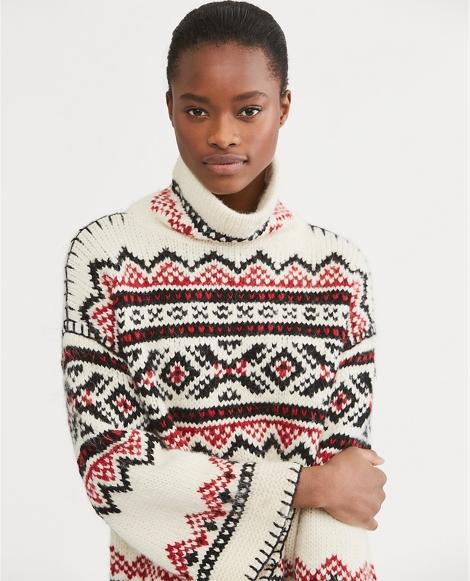 Fair Isle Funnelneck Sweater