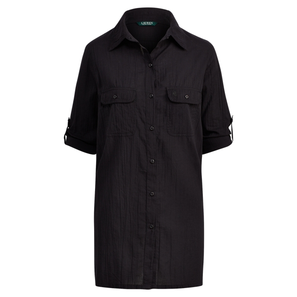 Ralph Lauren Camp Shirt Black S