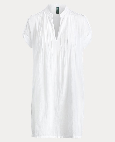 Pintucked Cotton Cover-Up
