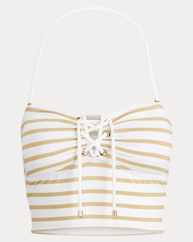Metallic Striped Tankini