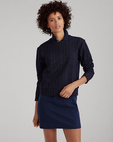 Pinstripe Jacquard Pullover