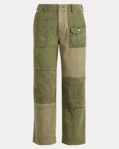Patchwork Cotton Chino Pant