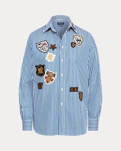 Patchwork Boyfriend Shirt