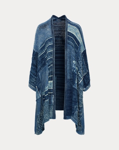 Patchwork Open-Front Cardigan