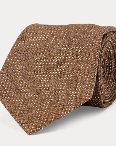 Dot Silk Bourette Narrow Tie