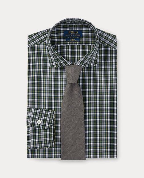 Slim Fit Tartan Cotton Shirt