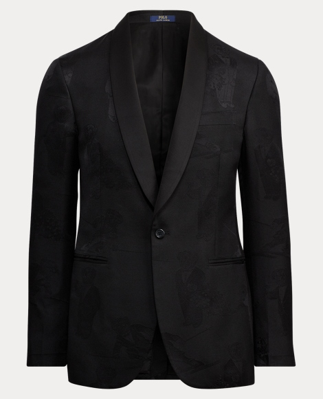 Bear Jacquard Suit Jacket