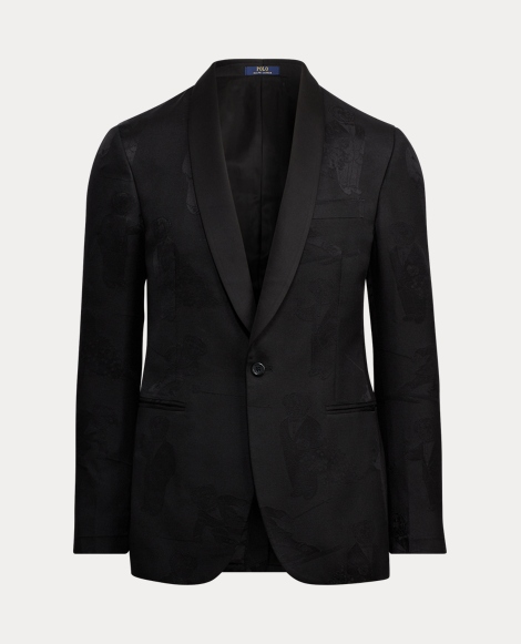 Bear Jacquard Suit Jacket