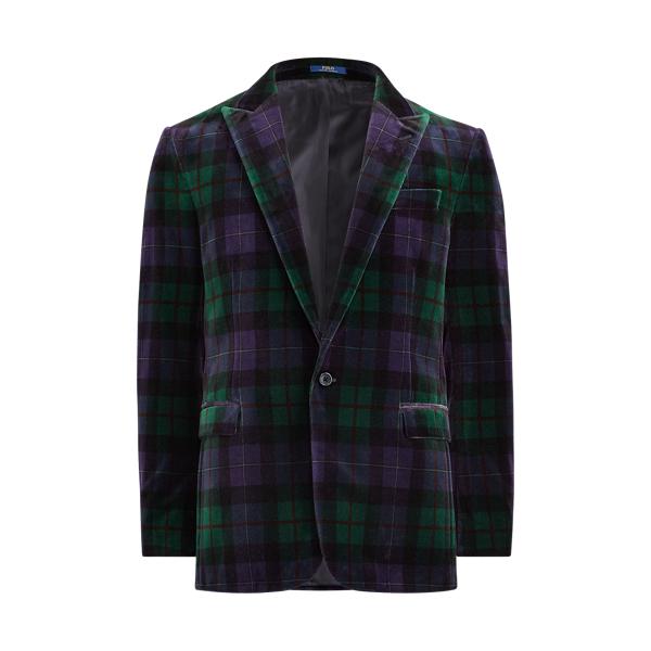Ralph Lauren Connery Tartan Velvet Jacket Green/Purple/Red 42