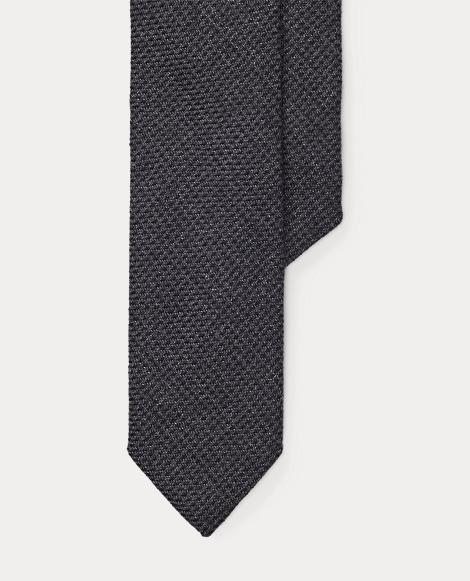Tick-Weave Narrow Tie