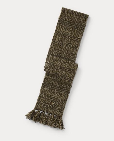 Fair Isle Merino Wool Scarf