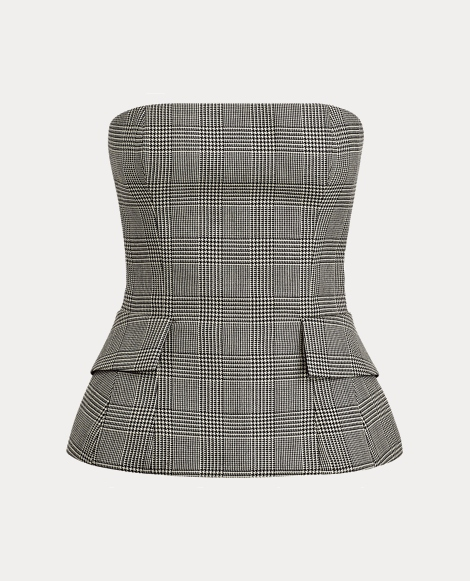 Blaine Glen Plaid Bustier