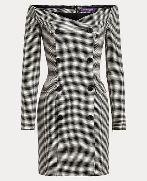 Brenna Houndstooth Wool Dress