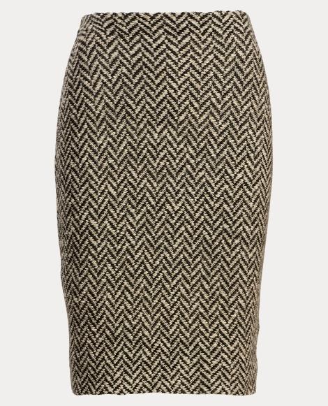 Herringbone Knit Pencil Skirt