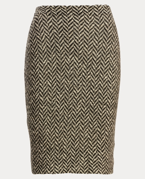 Herringbone Knit Pencil Skirt