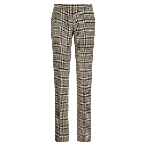 Ralph Lauren Sydney Glen Plaid Tweed Pant Black/Antique Cream 2