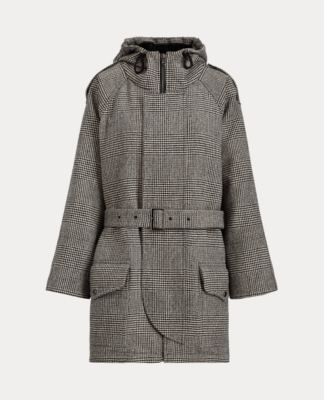 Glen Plaid Wool Sailor Coat