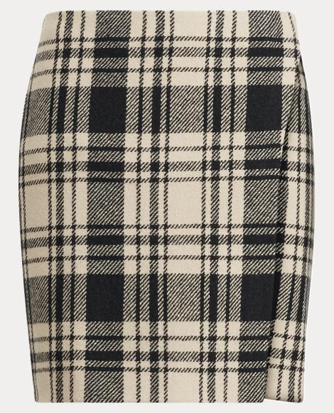 Brooke Plaid Merino Wool Skirt