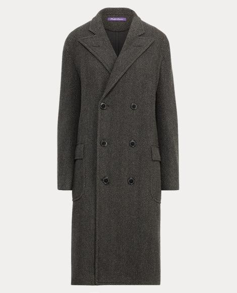 Bradford Herringbone Wool Coat